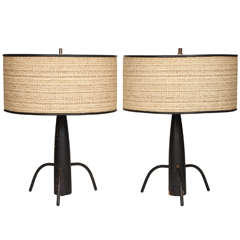 Pair of Early 50's Table Lamps in the manner of McCobb