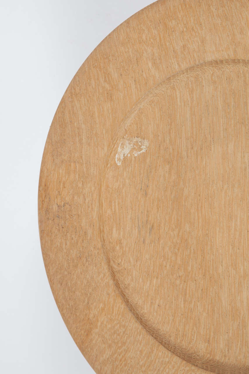Oak Wood Charger or Chop Plates, Set of Ten 7