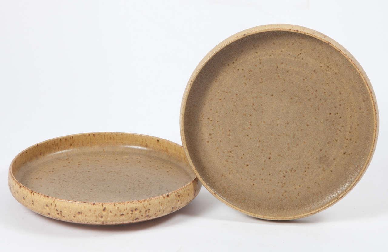 Per Linnemann Schmidt Stoneware Serving Plates, Pair 2