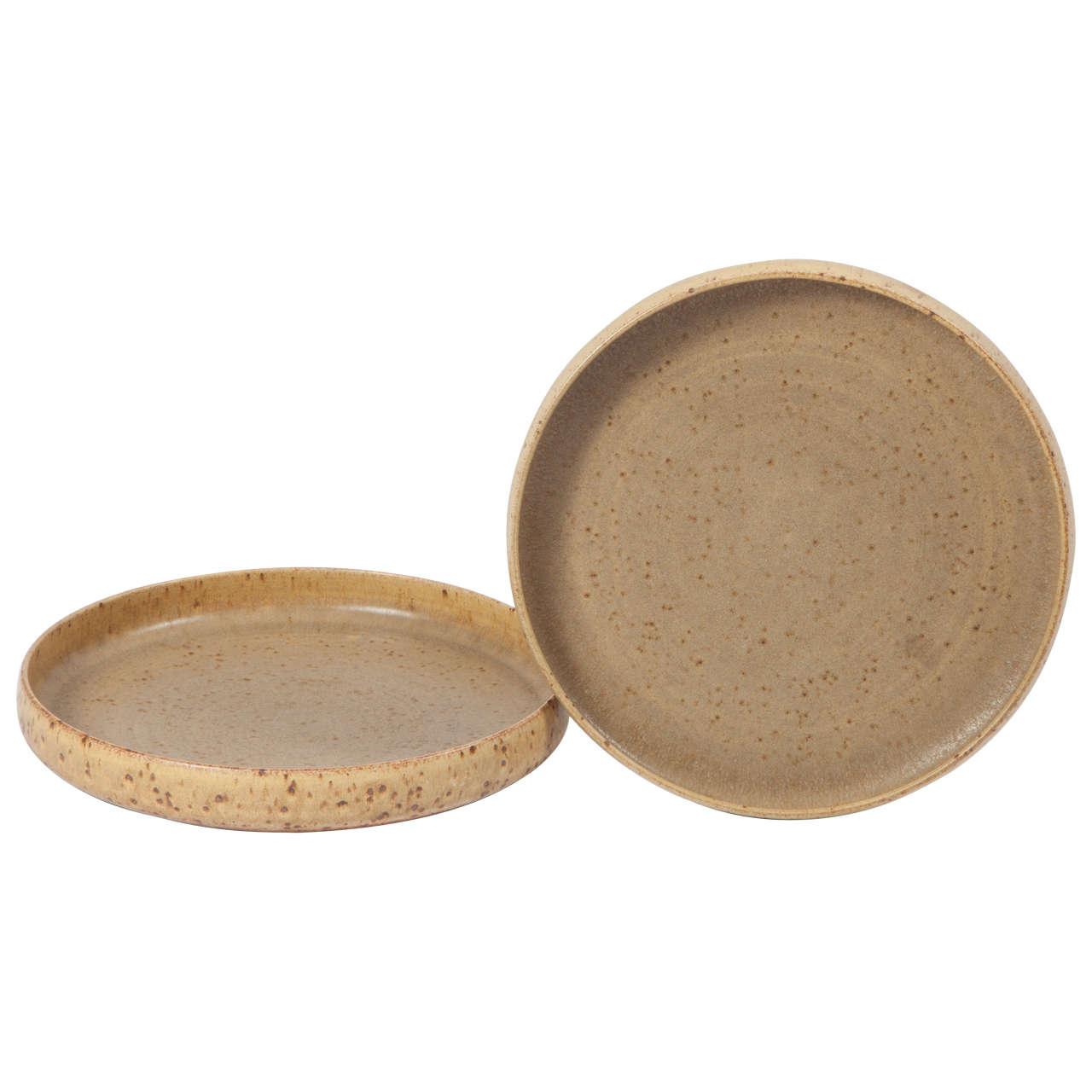 Per Linnemann Schmidt Stoneware Serving Plates, Pair 1