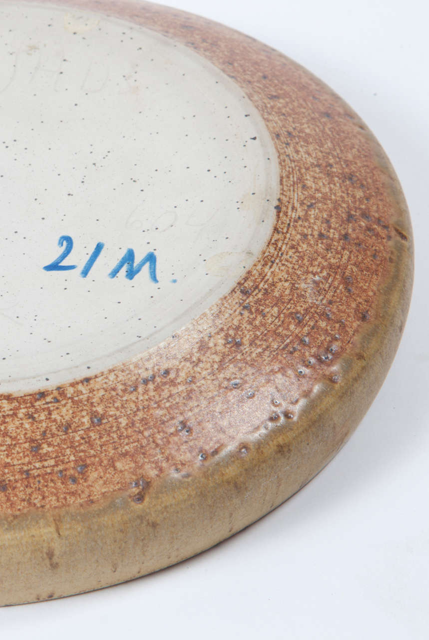 Per Linnemann Schmidt Stoneware Serving Plates, Pair 4
