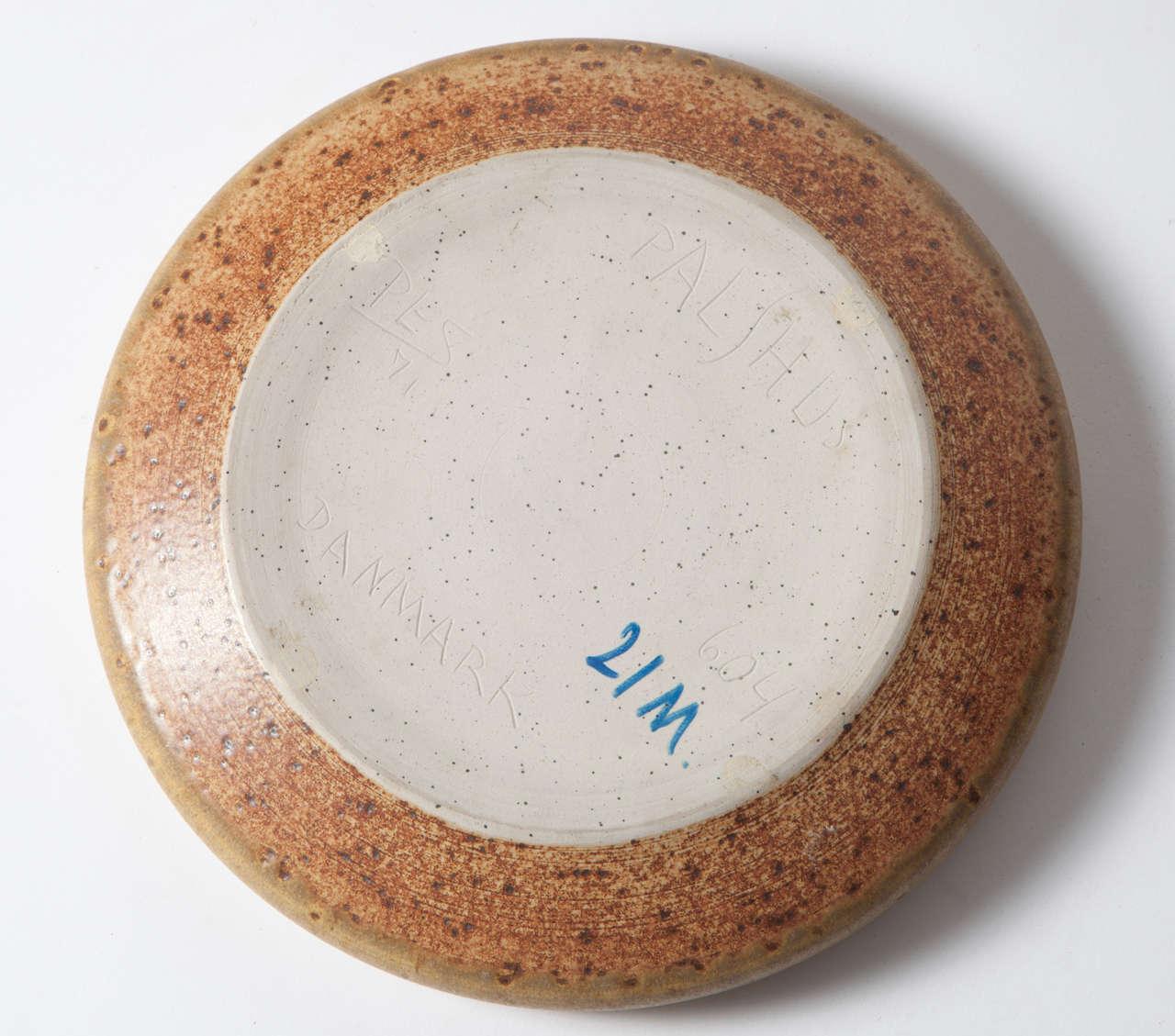 Per Linnemann Schmidt Stoneware Serving Plates, Pair 5