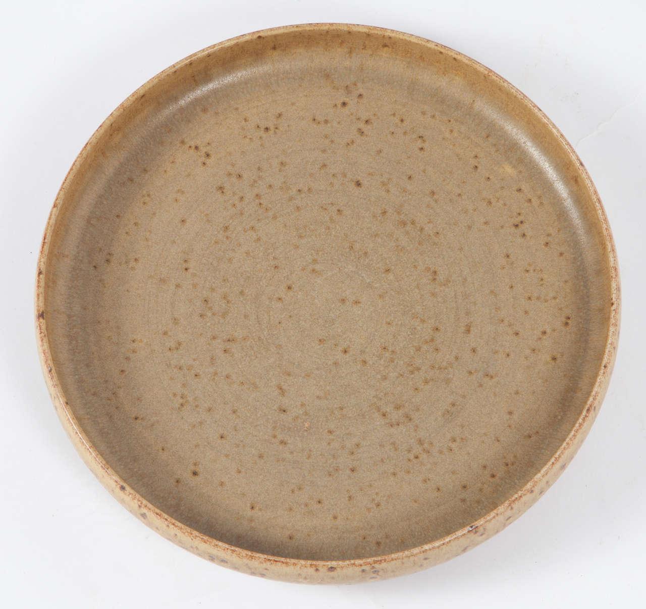 Per Linnemann Schmidt Stoneware Serving Plates, Pair 6