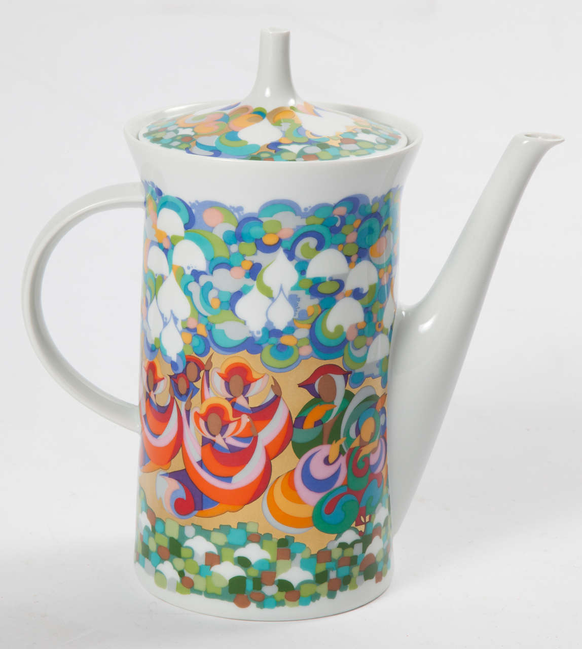 Scandinavian Modern Rosenthal Bjorn Wiinblad Teapot For Sale