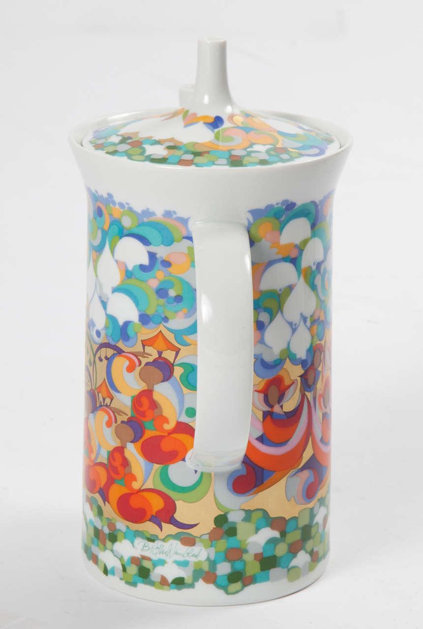 Mid-20th Century Rosenthal Bjorn Wiinblad Teapot For Sale