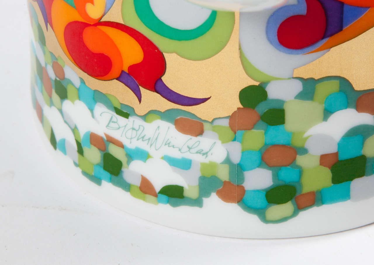 Ceramic Rosenthal Bjorn Wiinblad Teapot For Sale