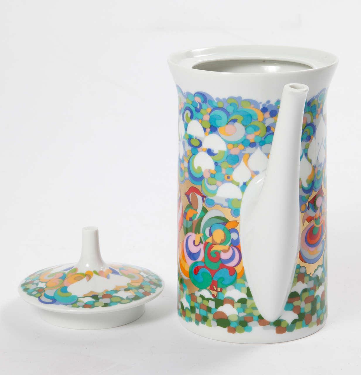 Rosenthal Bjorn Wiinblad Teapot For Sale 1