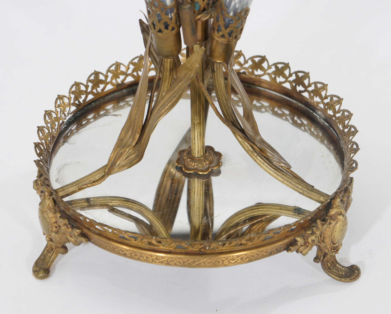 Outstanding Art Nouveau Calla Lily 19th Century Epergne on Plateau For Sale 3