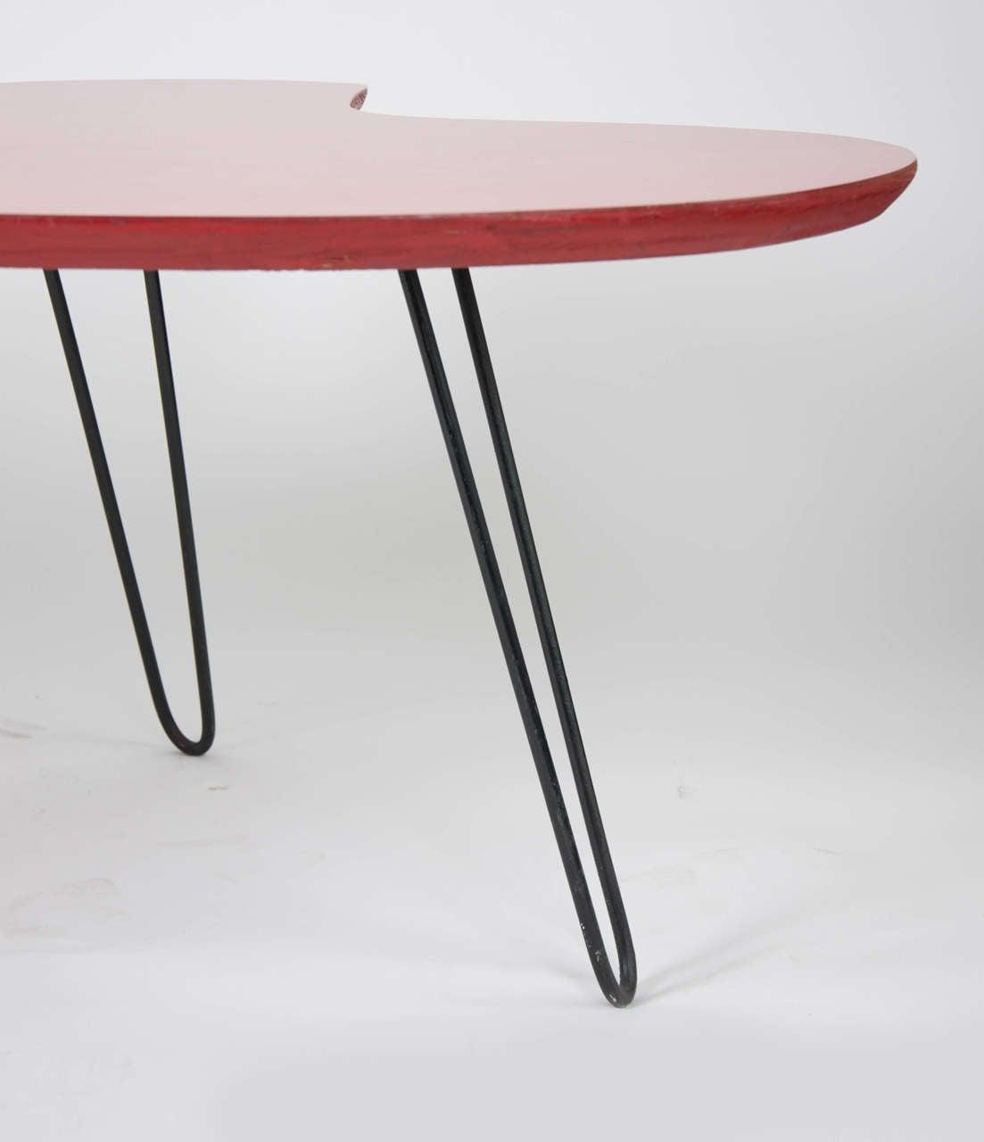 Red formica coffee table at 1stdibs for Table formica
