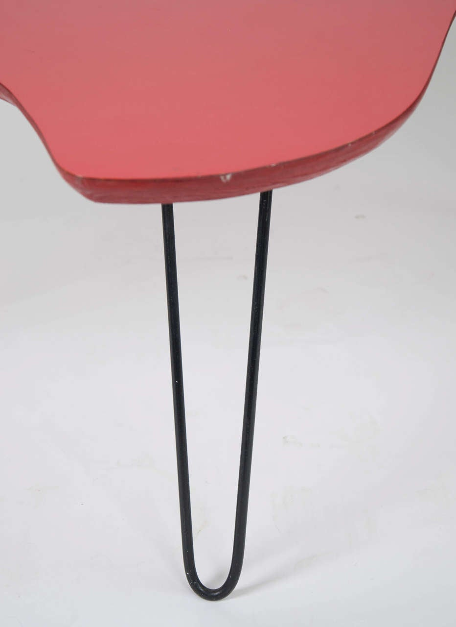 Red Formica Coffee Table At 1stdibs