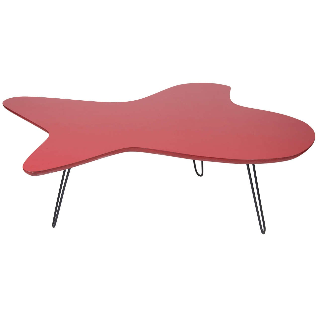 Red formica coffee table at 1stdibs Formica coffee table