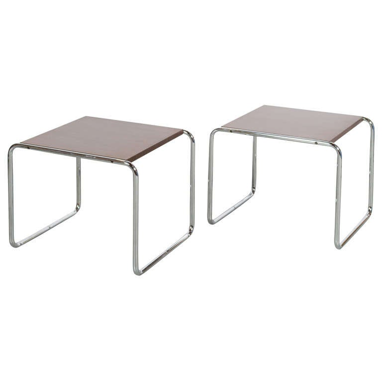 Marcel Breuer Laccio Table Pair For