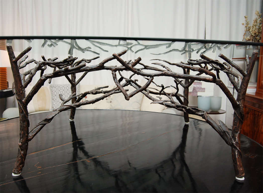 American Gl Top Coffee Table With Tree Leg Base For