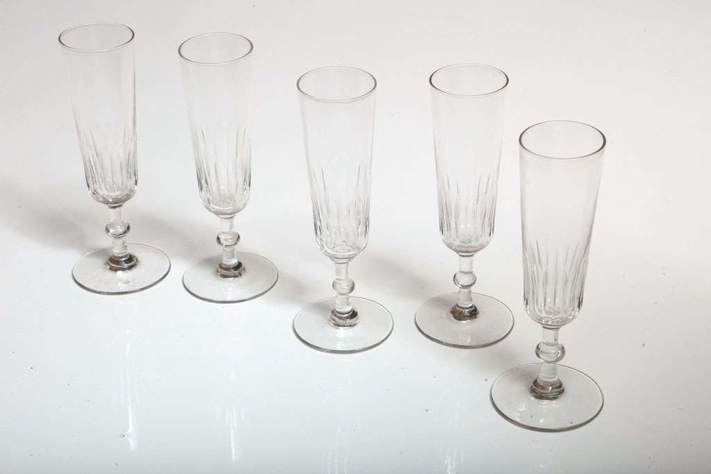 19th Century Champagne Flutes For Sale