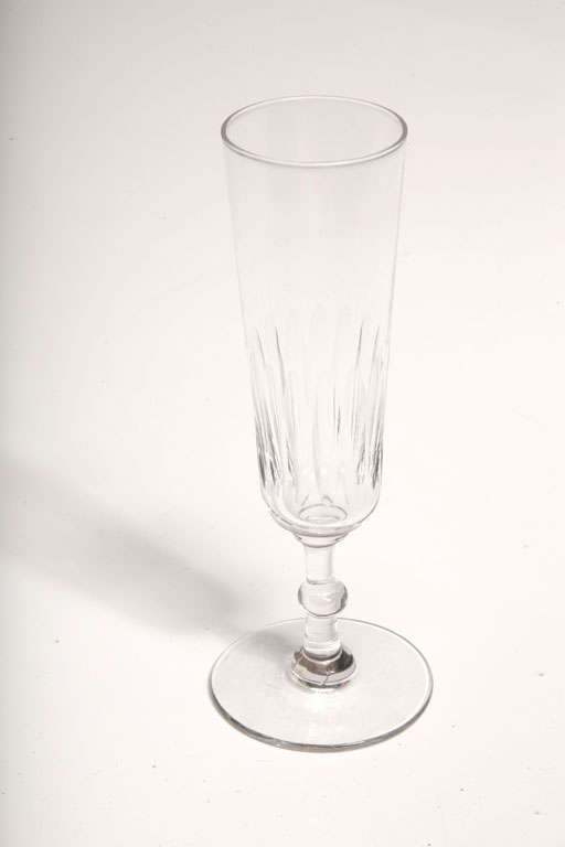 Glass Champagne Flutes For Sale