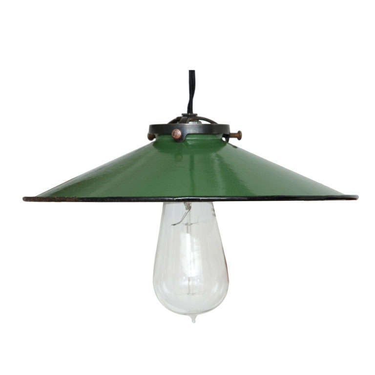 Vintage French Green Enamel Pendant Light 1  sc 1 st  1stDibs & Vintage French Green Enamel Pendant Light For Sale at 1stdibs azcodes.com