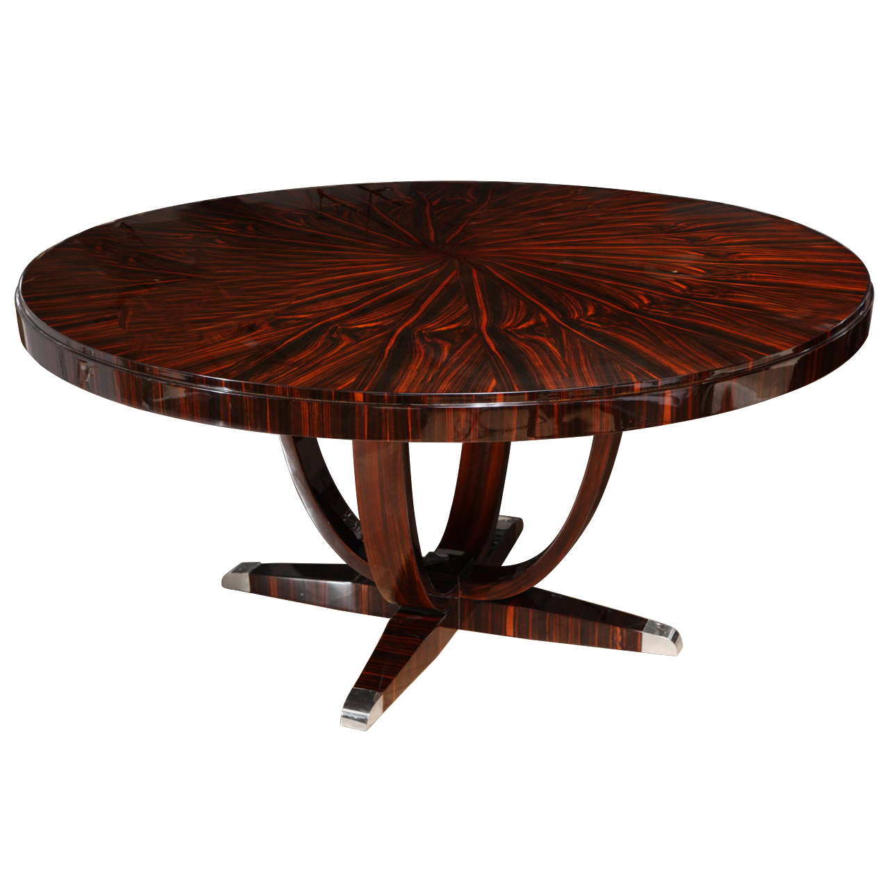 superb art deco round dining table at 1stdibs. Black Bedroom Furniture Sets. Home Design Ideas