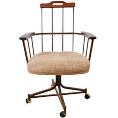 An Iron and Wood Armchair
