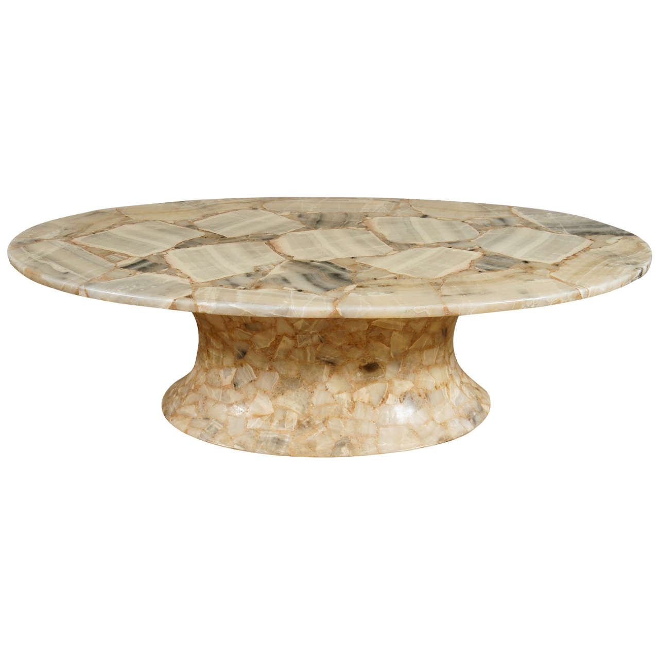 An oval marble top coffee table at 1stdibs Stone coffee table top