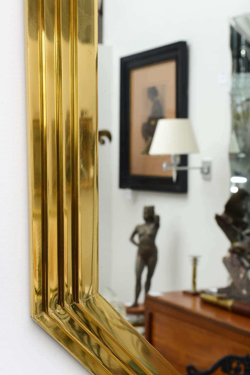 Vintage Octagonal Brass Mirror 4