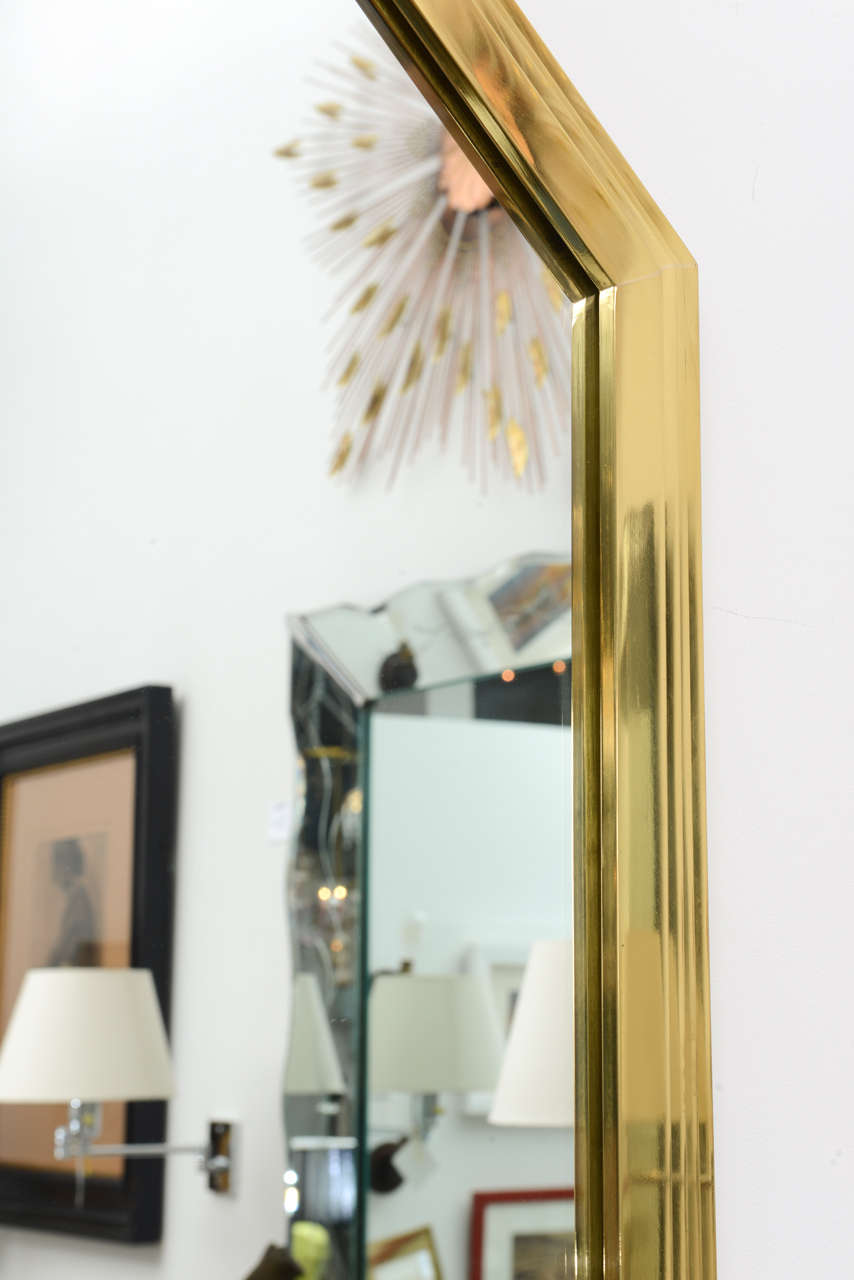 Vintage Octagonal Brass Mirror 5