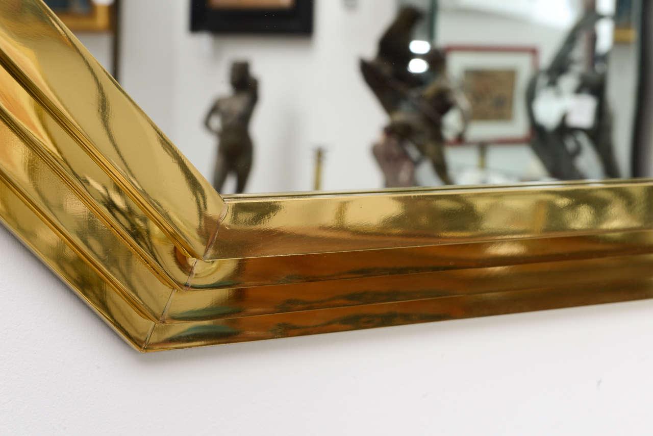 Vintage Octagonal Brass Mirror 6