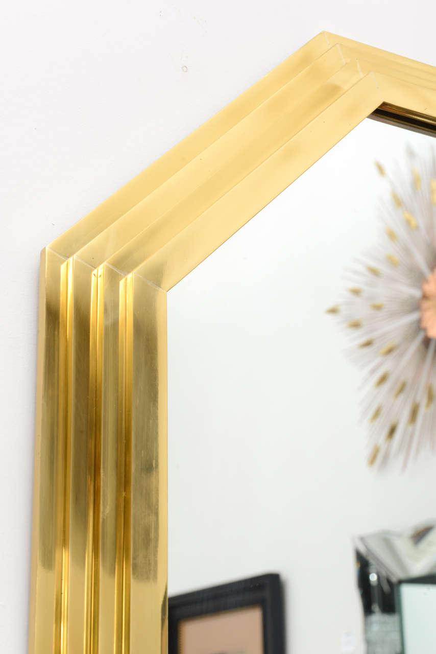 Vintage Octagonal Brass Mirror image 7