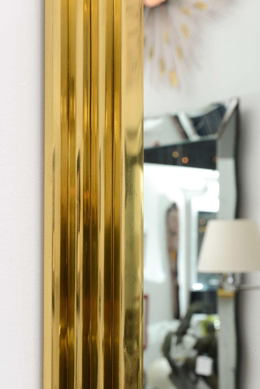 Vintage Octagonal Brass Mirror 8