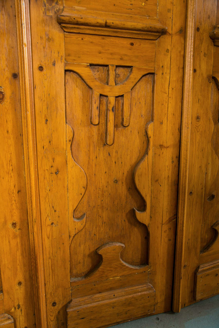 Antique Pine European Art Nouveau Doors Set At 1stdibs