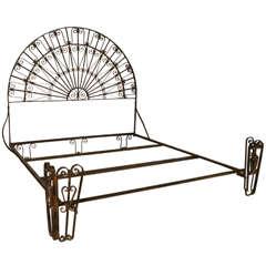 Antique Wrought Iron Palladium King Size Bed
