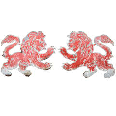 Pair Red Lions