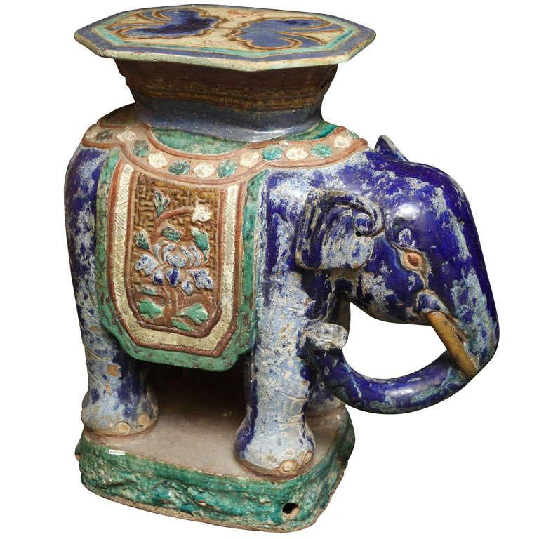 Elephant Garden Stool At 1stdibs