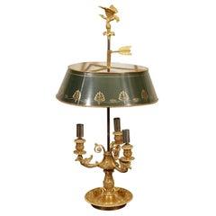 Empire Gilt Bronze Bouillotte Lamp