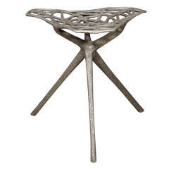 Rare Cast Aluminum Stool by Thomas Lynn