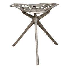 Rare Cast Aluminum Stool by Thomas Lynn