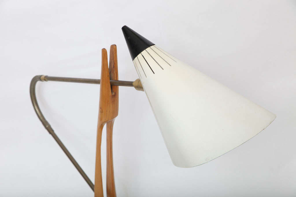 Rare 1950s Table Lamp Attributed to Gino Sarfatti for Lightolier 3