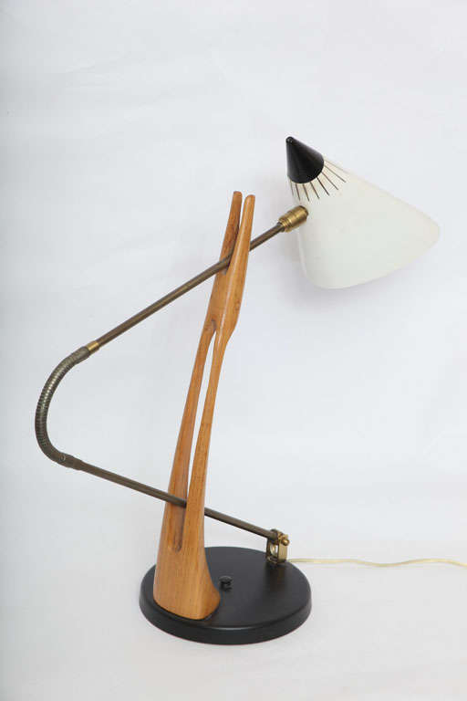 Rare 1950s Table Lamp Attributed to Gino Sarfatti for Lightolier 4