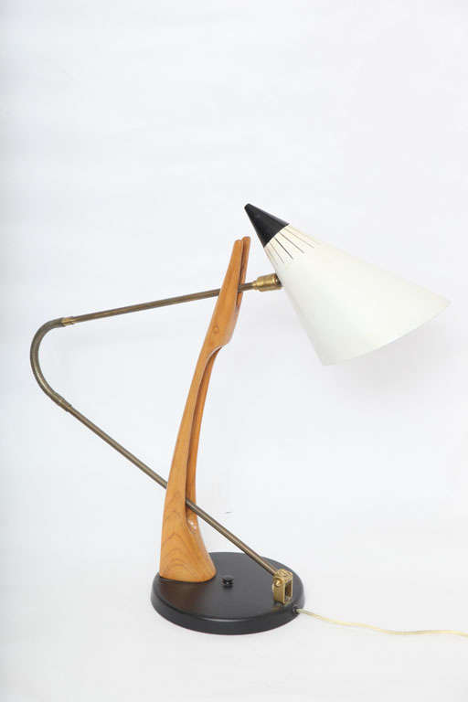 Rare 1950s Table Lamp Attributed to Gino Sarfatti for Lightolier 8