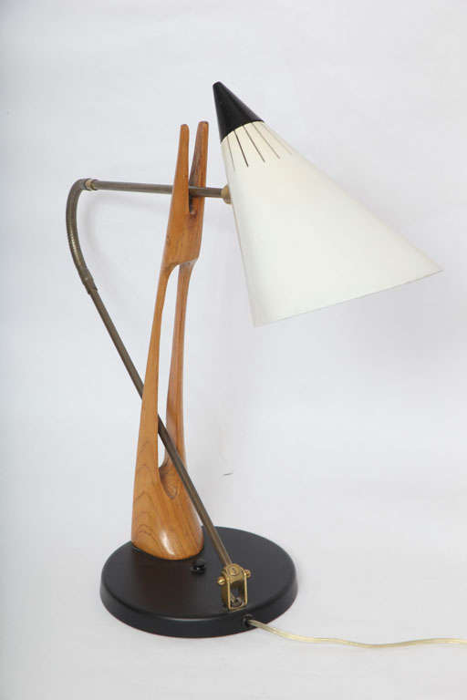Rare 1950s Table Lamp Attributed to Gino Sarfatti for Lightolier 2