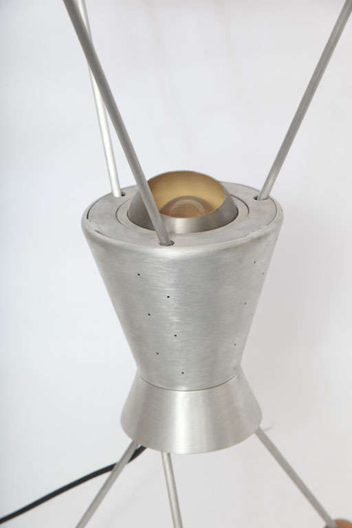 American 1950s Futurist Table Lamp Attributed to Heifetz For Sale