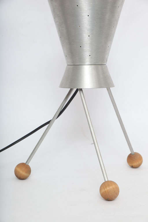 Mid-20th Century 1950s Futurist Table Lamp Attributed to Heifetz For Sale