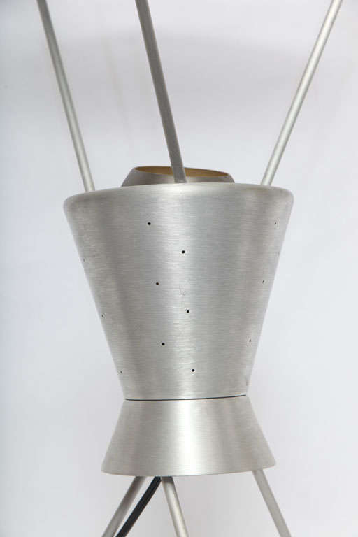 Wood 1950s Futurist Table Lamp Attributed to Heifetz For Sale
