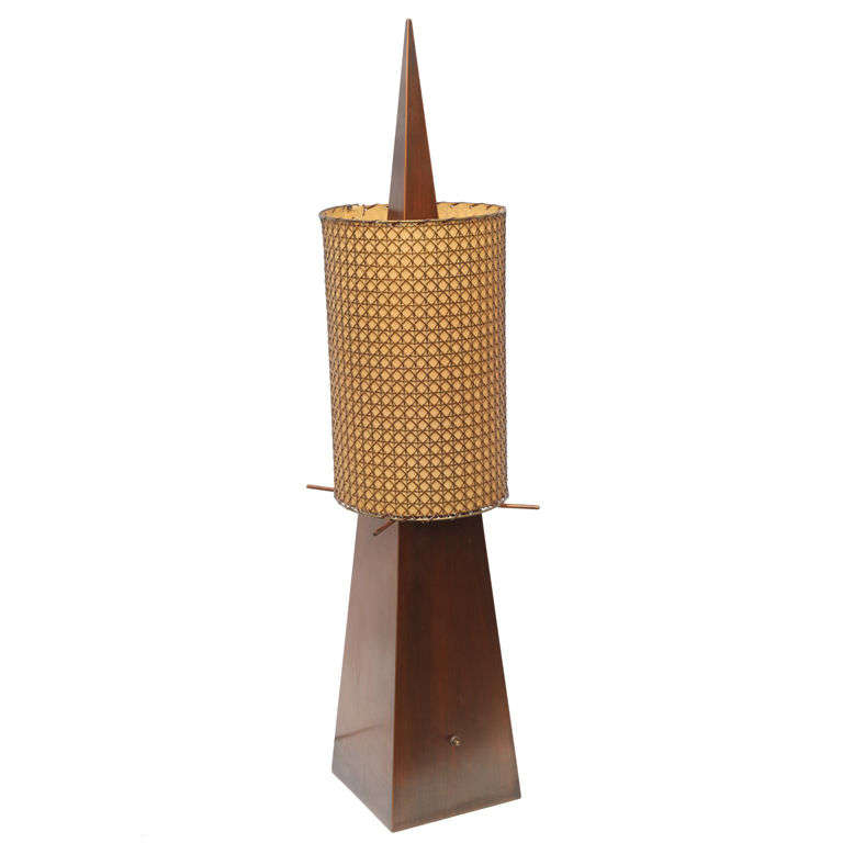 1950s Sculptural Table Lamp by Frederic Weinberg