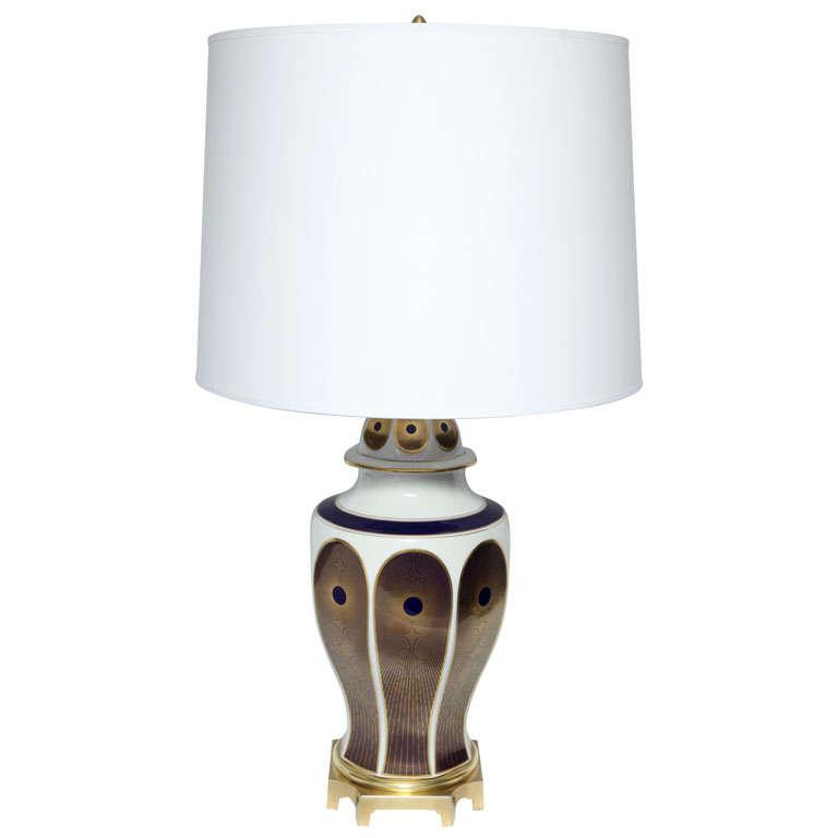 1920s German Transcendental Modernist Porcelain Table Lamp
