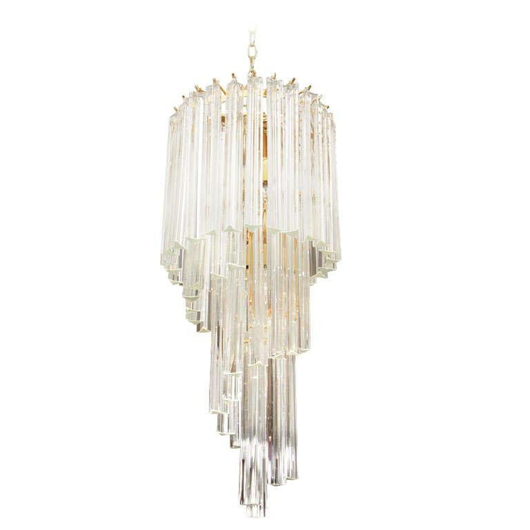 Foyer Chandelier Height : Murano glass foyer chandelier at stdibs