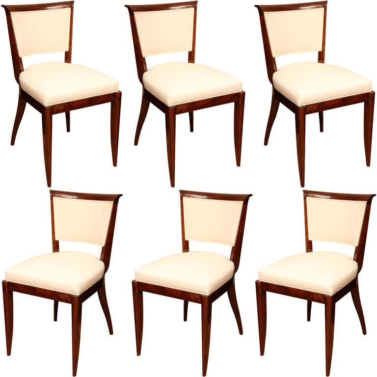 Suite Of Six Art Deco Dining Chairs At 1stdibs
