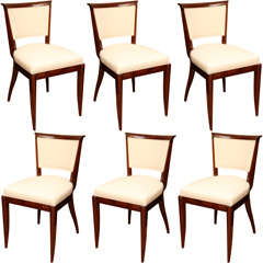 Suite of 6 Art Deco Dining Chairs