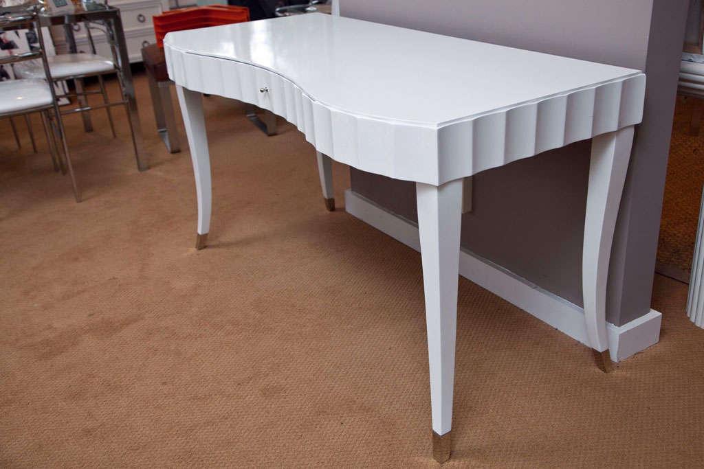American White Lacquered Desk Vanity Barbara Barry For Baker