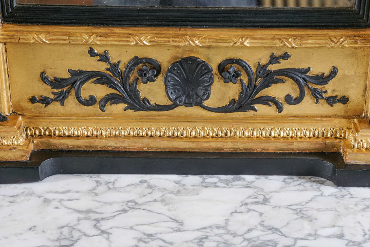 Fine English Regency Parcel-Ebonized Giltwood Mirror, circa 1800 7