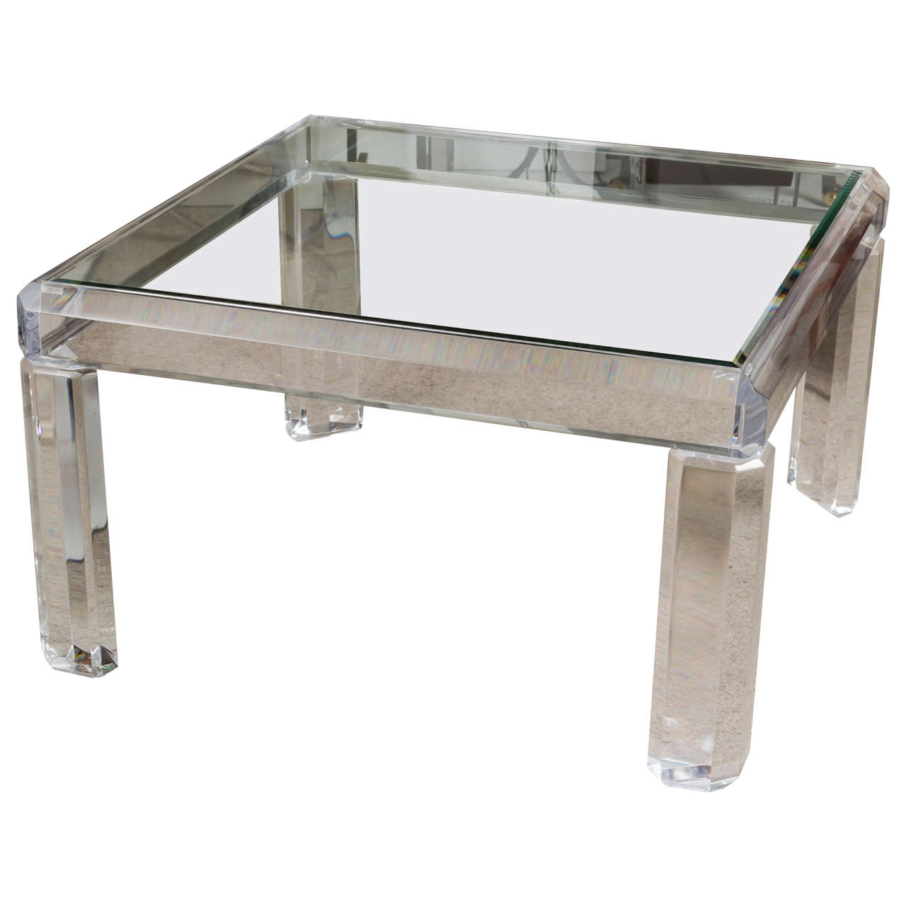 Chunky Lucite Cocktail Table By Charles Hollis Jones At 1stdibs